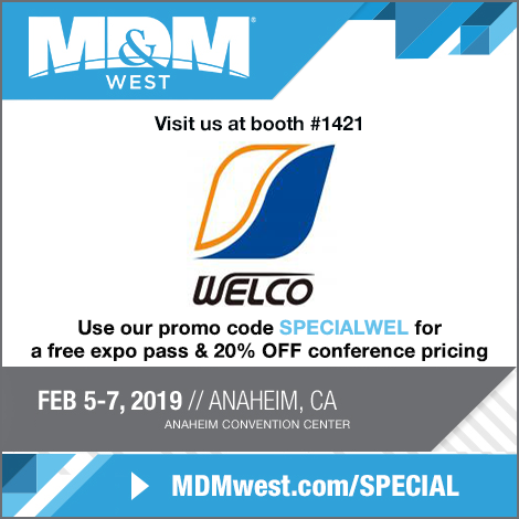 Exhibition Information: MD&M WEST 2019