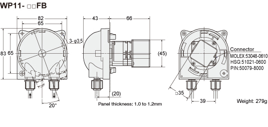 stepper motor  uff06 gear wp1000  1100