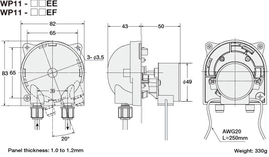 Ac Synchronous Motor Wp1100 Peristaltic Pump Dispenser
