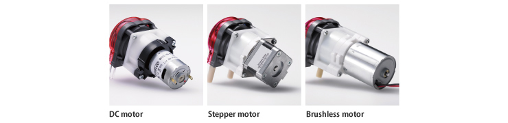 Various motors can be mounted according to needs